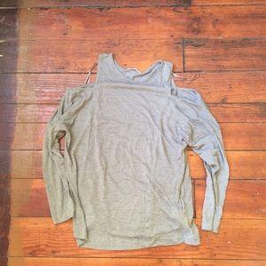 5/25 Grey Zara cold shoulder top size small